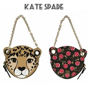 Kate Spade Leopard Floral Coin Purse or Charm